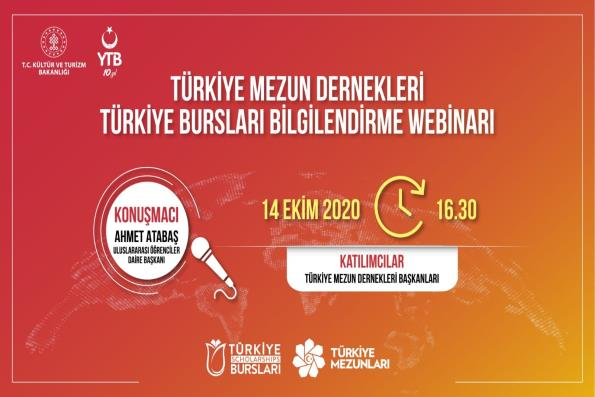 Türkiye Mezun Dernekleri-Türkiye Bursları Bilgilendirme Webinarı Programı Gerçekleştirildi