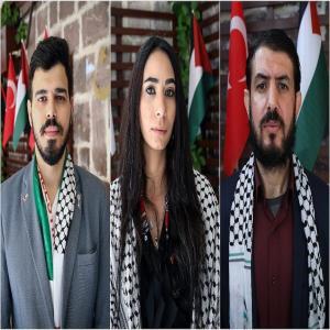 YTB'nin 'Türkiye Bursları' İle Eğitim Alan Filistinli Öğrenciler İsrail'in Saldırılarına Tepkilerini Paylaştı